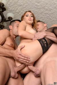 Horny Kira Thorn Gets Double Penetrated