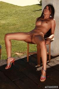 Danika Gets Naked Outside