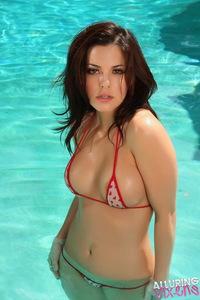 Olivia In String Bikini