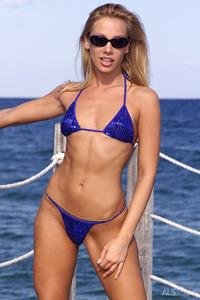 Sandy Slips Out Of Her Hot Bikini