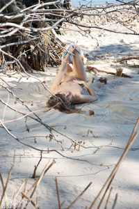 Girl Spreading Legs Outside