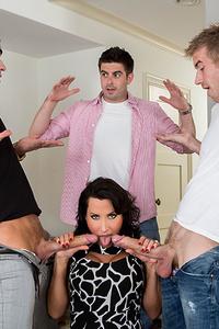Lezley Zen Threesome Porn