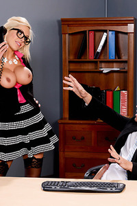 Nina Elle Busty Secretary Sucking Cock