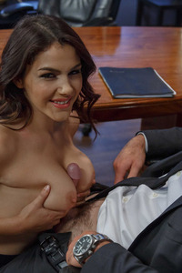Slutty Secretary Valentina Nappi Fucks With Her Boss