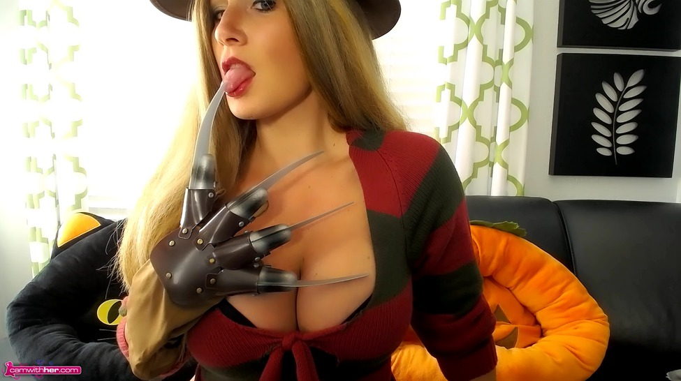 Busty Camgirl Layla In Freddy Costume