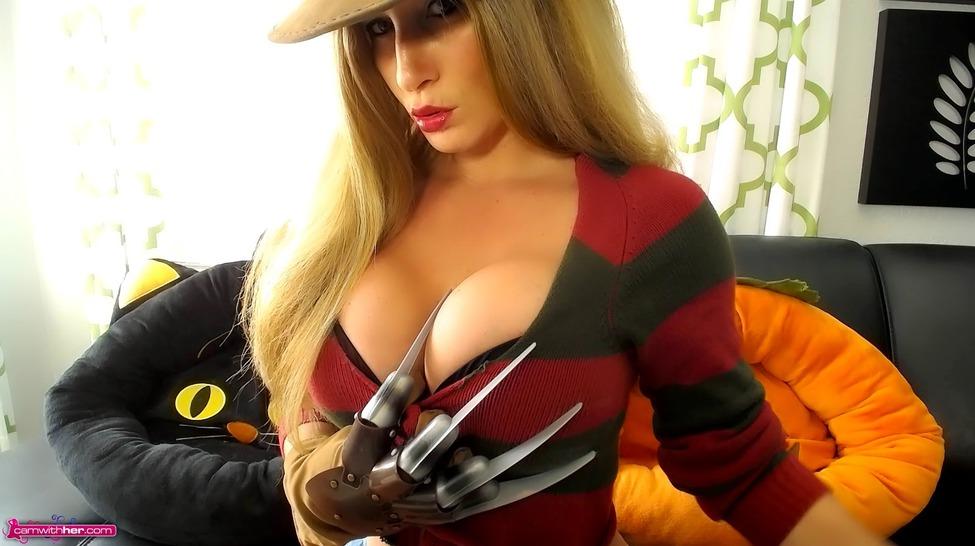 Busty Camgirl Layla In Freddy Costume