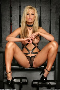 Kayden Kross With Her Nipples Clamped Up