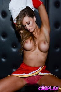 Elizabeth Busty Cheerleader
