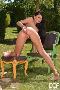 Lucy Li Masturbates In The Garden