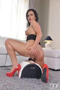 Denise Riding On Her Sybian