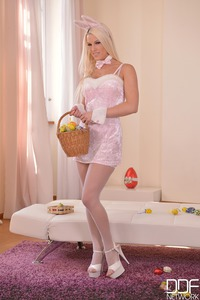 A Naughty Bunny Gets Her Wish - Solo Fingering Exploration