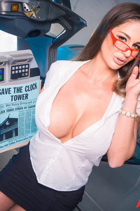 Busty Cathy Heaven Gets Naughty In The Studio
