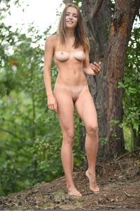 Saloma Posing Naked Outdoors