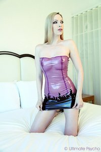 Emily Marilyn Latex Upskirt