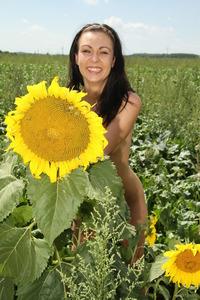 Kara Rosemary Strips In The Nature