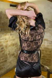 Blonde Runa In Black