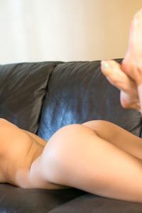 Blonde Girl Gets Naked N The Sofa