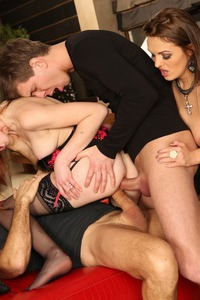 Linda Sweet And Dominica Phoenix In Group Sex