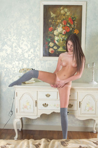 Teen Lana K With Only Sexy Stockings