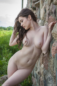 Doria A Posing Naked In The Nature