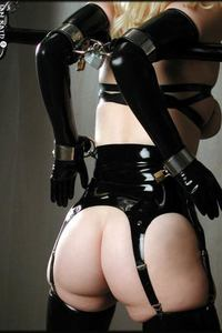 Blonde In Latex And Chains