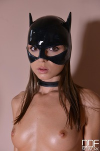 Catwoman Humiliated: Busty Dominatrix Bangs Submissive With Strap-On