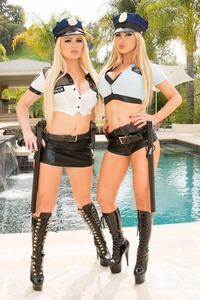 Nikki Benz And Alexis Ford: Your Cock Is Under Arrest