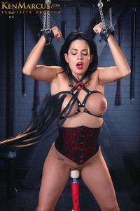 Blindfolded Corset Bondage