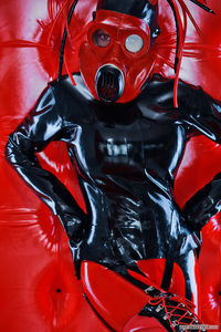 Latex Straight Jacket