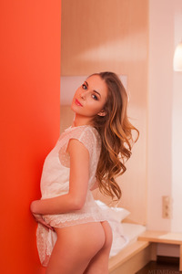 Sexy Ukrainian babe Katie A is all dressed up for a night out