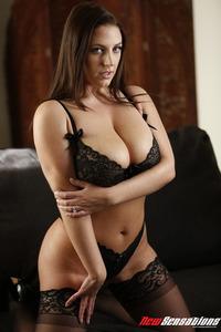 Angela White Big Boobed MILF Pornstar Strips
