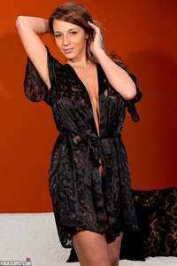 Nikki Sims - Black Sheer Robe