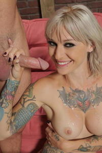 Tattoed Hot Blonde Pounded Behind