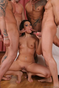 Black Haired Whore Pamela Ann's All Holes Stuffed