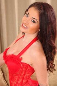 Jess Impiazzi In Red Corset
