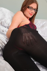 Danielle In Sexy Black Pantyhose
