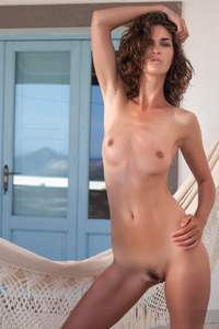 Sexy Brunette Girl Charlotta Strips Off Her Lingerie