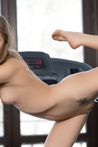 Karissa Posing Naked In The Gym