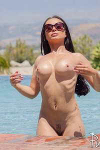 Crystal Rush Slips Out Of Her Swimmsuit