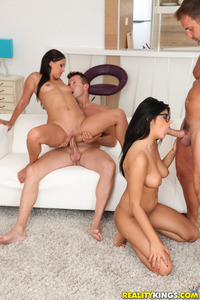 Horny Latina Teen Lia In Foursome Orgy