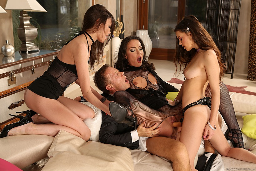 Rocco Fucks Three Whores In The Ass