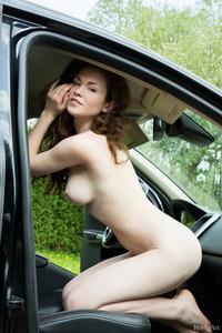 Estelle Strips In The Car