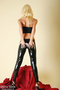 Allizee Black Shiny Latex