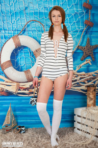 Lovely Teen Babe Strips Out Of Her Sailor Uniform