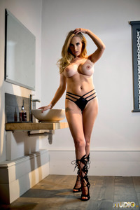 Lucy-Anne Brooks Cute Blonde Babe Gets Stripping