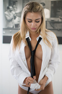Tahlia Paris In Shirt And Tie