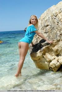Terakis at beach