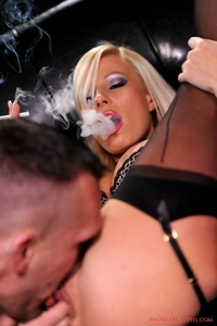 Michelle smoking all white 120's during sex