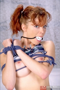 Red haired tied up hard