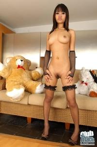 Thai babe Bua nude in stockings 10
